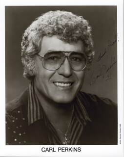 CARL LEE PERKINS - AUTOGRAPHED SIGNED PHOTOGRAPH 1991
