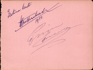 PRIMO CARNERA - INSCRIBED SIGNATURE CO-SIGNED BY: JOAN TURNER - HFSID 165647