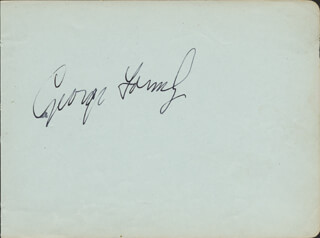 GEORGE FORMBY - AUTOGRAPH CO-SIGNED BY: CORAL BROWNE