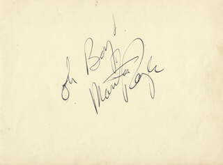 Autographs: LEO GENN - AUTOGRAPH NOTE SIGNED CO-SIGNED BY: MARTHA RAYE