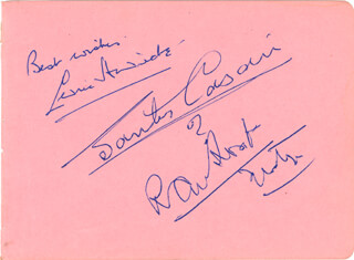 SIR CEDRIC HARDWICKE - AUTOGRAPH SENTIMENT SIGNED