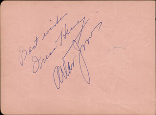 ALLAN JONES - AUTOGRAPH SENTIMENT SIGNED CO-SIGNED BY: IRENE HERVEY, JACK BUCHANAN