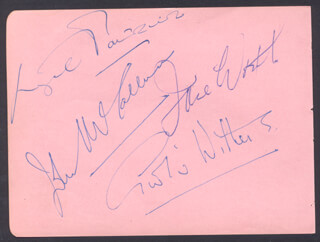 GOOGIE WITHERS - AUTOGRAPH CO-SIGNED BY: JOHN McCALLUM