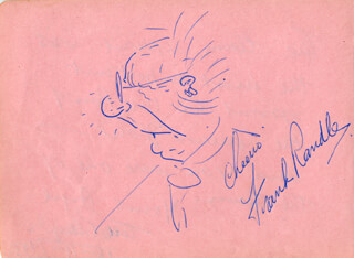 FRANK RANDLE - SELF-CARICATURE SIGNED CO-SIGNED BY: TED PLAYER