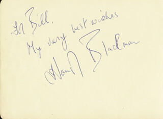 HONOR BLACKMAN - AUTOGRAPH NOTE SIGNED CO-SIGNED BY: EDWARD CHAPMAN