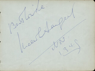 MALCOLM SARGENT - AUTOGRAPH 1949 CO-SIGNED BY: DIANA CHURCHILL