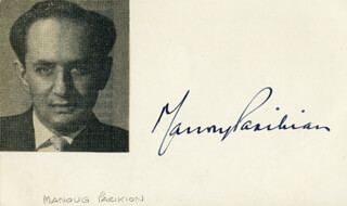 MANOUG PARIKIAN - AUTOGRAPH