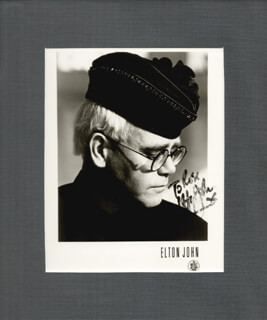 SIR ELTON JOHN - AUTOGRAPHED INSCRIBED PHOTOGRAPH