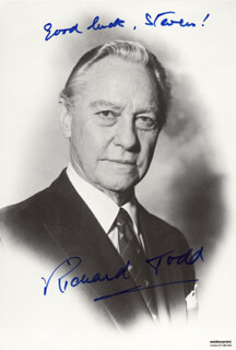 RICHARD TODD - AUTOGRAPHED INSCRIBED PHOTOGRAPH