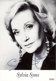 SYLVIA SYMS - AUTOGRAPHED SIGNED PHOTOGRAPH