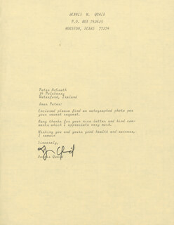DENNIS QUAID - TYPED LETTER SIGNED