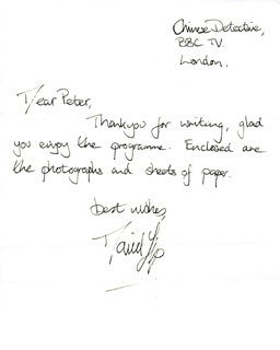 DAVID YIP - AUTOGRAPH LETTER SIGNED