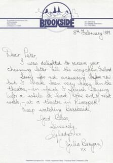 GLADYS AMBROSE - AUTOGRAPH LETTER SIGNED 02/08/1989
