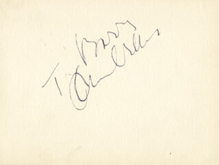 ORSON WELLES - INSCRIBED ALBUM LEAF SIGNED