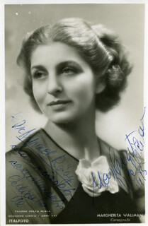 MARGARITA WALLMAN - INSCRIBED PICTURE POSTCARD SIGNED 1948