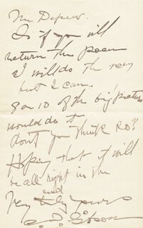 CHARLES DANA GIBSON - AUTOGRAPH LETTER SIGNED 07/15/1891