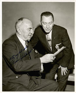 MAJOR EDWARD V. EDDIE RICKENBACKER - AUTOGRAPHED SIGNED PHOTOGRAPH 1951