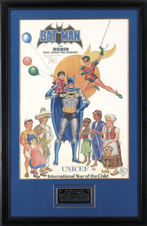 BOB KANE - INSCRIBED POSTER SIGNED CIRCA 1979  - HFSID 165918