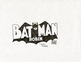 BOB KANE - ANNOTATED ILLUSTRATION UNSIGNED