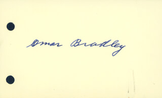 Autographs: GENERAL OMAR N. BRADLEY - SIGNATURE(S)
