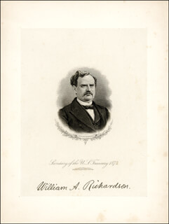 WILLIAM A. RICHARDSON - ENGRAVING SIGNED