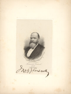 Autographs: JOHN A.J. CRESWELL - ENGRAVING SIGNED