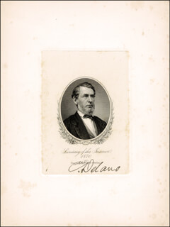 Autographs: COLUMBUS DELANO - ENGRAVING SIGNED