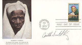 CORETTA SCOTT KING - FIRST DAY COVER SIGNED