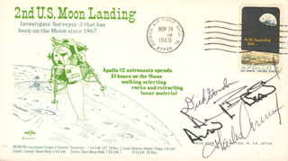 CAPTAIN CHARLES PETE CONRAD JR. - FIRST DAY COVER SIGNED CO-SIGNED BY: CAPTAIN ALAN L. BEAN, CAPTAIN RICHARD F. DICK GORDON JR.