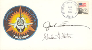COLONEL JACK LOUSMA - FIRST DAY COVER SIGNED CO-SIGNED BY: COLONEL C. GORDON FULLERTON