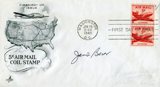 ENOLA GAY CREW (JACOB BESER) - FIRST DAY COVER SIGNED