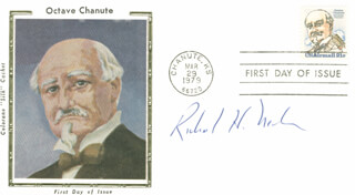 ENOLA GAY CREW (RICHARD H. NELSON) - FIRST DAY COVER SIGNED