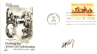 ASSOCIATE JUSTICE ANTHONY M. KENNEDY - FIRST DAY COVER SIGNED