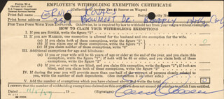 ERNIE KOVACS - DOCUMENT SIGNED 11/05/1959