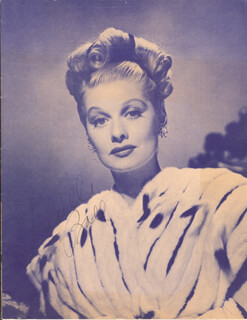LUCILLE LUCY BALL - PROGRAM SIGNED