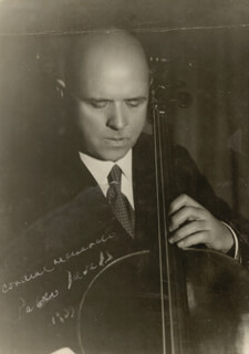 PABLO CASALS - AUTOGRAPHED INSCRIBED PHOTOGRAPH 1937