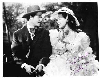 STORY OF ALEXANDER GRAHAM BELL MOVIE CAST - AUTOGRAPHED SIGNED PHOTOGRAPH CO-SIGNED BY: LORETTA YOUNG, DON AMECHE - HFSID 166355