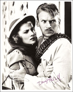 GUNGA DIN MOVIE CAST - AUTOGRAPHED SIGNED PHOTOGRAPH CO-SIGNED BY: JOAN FONTAINE, DOUGLAS FAIRBANKS JR.