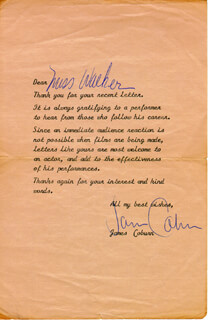 JAMES COBURN - TYPED LETTER SIGNED