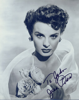 JEAN PETERS - AUTOGRAPHED SIGNED PHOTOGRAPH