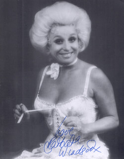 BARBARA WINDSOR - AUTOGRAPHED SIGNED PHOTOGRAPH
