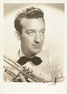 HARRY JAMES - AUTOGRAPHED SIGNED PHOTOGRAPH