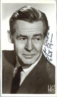 ROBERT RYAN - INSCRIBED PICTURE POSTCARD SIGNED