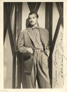 ZACHARY SCOTT - AUTOGRAPHED SIGNED PHOTOGRAPH