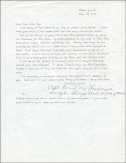 FRANCIS D. FELIX THORNHILL - TYPED LETTER SIGNED 11/30/1979