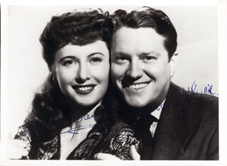 LADY OF BURLESQUE MOVIE CAST - AUTOGRAPHED SIGNED PHOTOGRAPH CO-SIGNED BY: BARBARA STANWYCK, MICHAEL O'SHEA