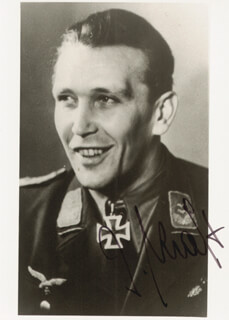 CAPTAIN JOSEF KRAFT - AUTOGRAPHED SIGNED PHOTOGRAPH