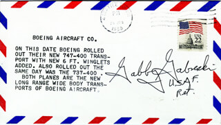 COLONEL FRANCIS S. GABBY GABRESKI - COMMEMORATIVE ENVELOPE SIGNED