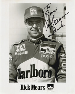 RICK MEARS - AUTOGRAPHED INSCRIBED PHOTOGRAPH