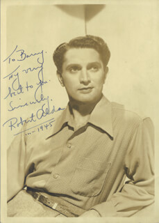 ROBERT ALDA - AUTOGRAPHED SIGNED PHOTOGRAPH 1945